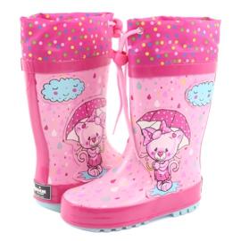American Club Botas de chuva bebê gatinho americano azul rosa 4