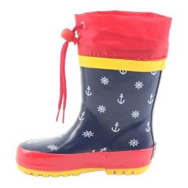 American Club Botas de chuva infantil American Pirat vermelho azul marinho 2