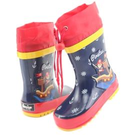American Club Botas de chuva infantil American Pirat vermelho azul marinho 4