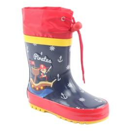 American Club Botas de chuva infantil American Pirat vermelho azul marinho 1