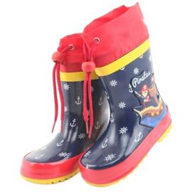 American Club Botas de chuva infantil American Pirat vermelho azul marinho 3