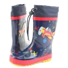 American Club Botas de chuva infantis American SamoLot vermelho azul marinho 4