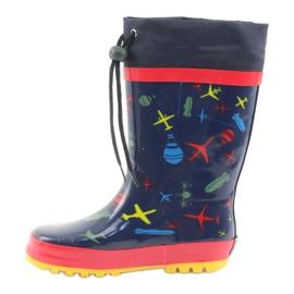 American Club Botas de chuva infantis American SamoLot vermelho azul marinho 2