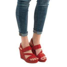 SHELOVET Sandálias Na Cunha vermelho 1