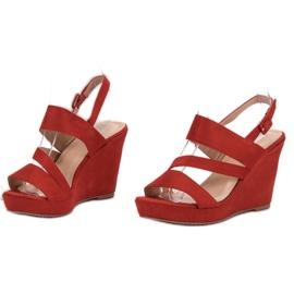 SHELOVET Sandálias Na Cunha vermelho 2
