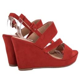 SHELOVET Sandálias Na Cunha vermelho 3