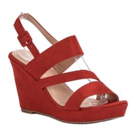 SHELOVET Sandálias Na Cunha vermelho 4