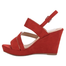 SHELOVET Sandálias Na Cunha vermelho 5