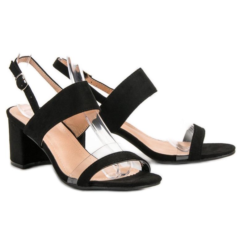 Ideal Shoes preto Sandálias das mulheres na moda retrato 6