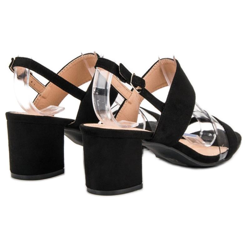 Ideal Shoes preto Sandálias das mulheres na moda retrato 5