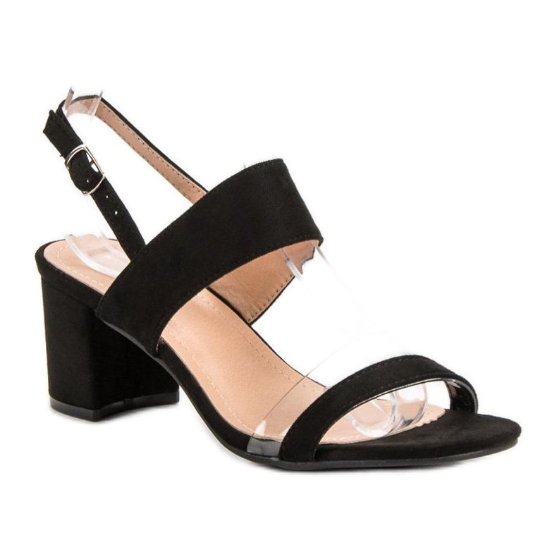 Ideal Shoes preto Sandálias das mulheres na moda retrato 3