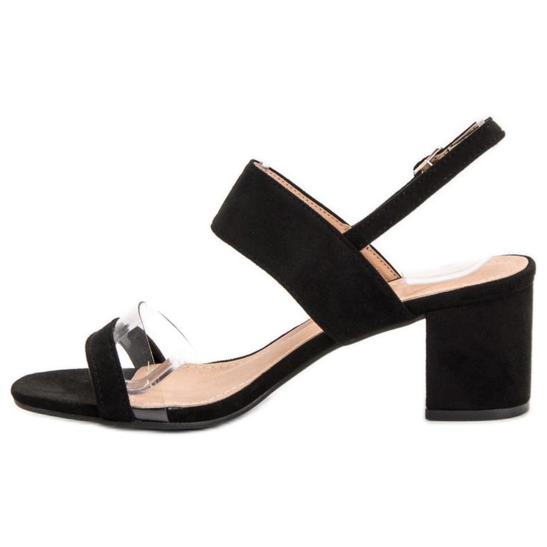 Ideal Shoes preto Sandálias das mulheres na moda retrato 4