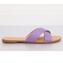 Chinelos femininos violeta 930 roxo tolet 4