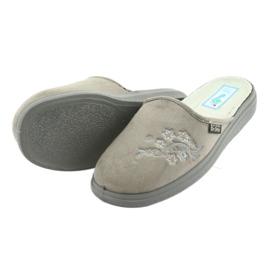 Sapatos femininos Befado pu 132D013 cinza 4