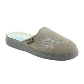 Sapatos femininos Befado pu 132D013 cinza 1