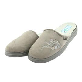 Sapatos femininos Befado pu 132D013 cinza 3