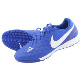 Sapatos de futebol Nike Tiempo Legend 7 Academia 10R Tf M AQ2218-410 azul 5