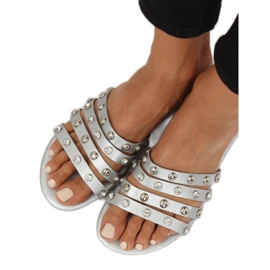 Chinelos femininos prata DD83P prata cinza 3