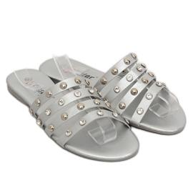 Chinelos femininos prata DD83P prata cinza 1