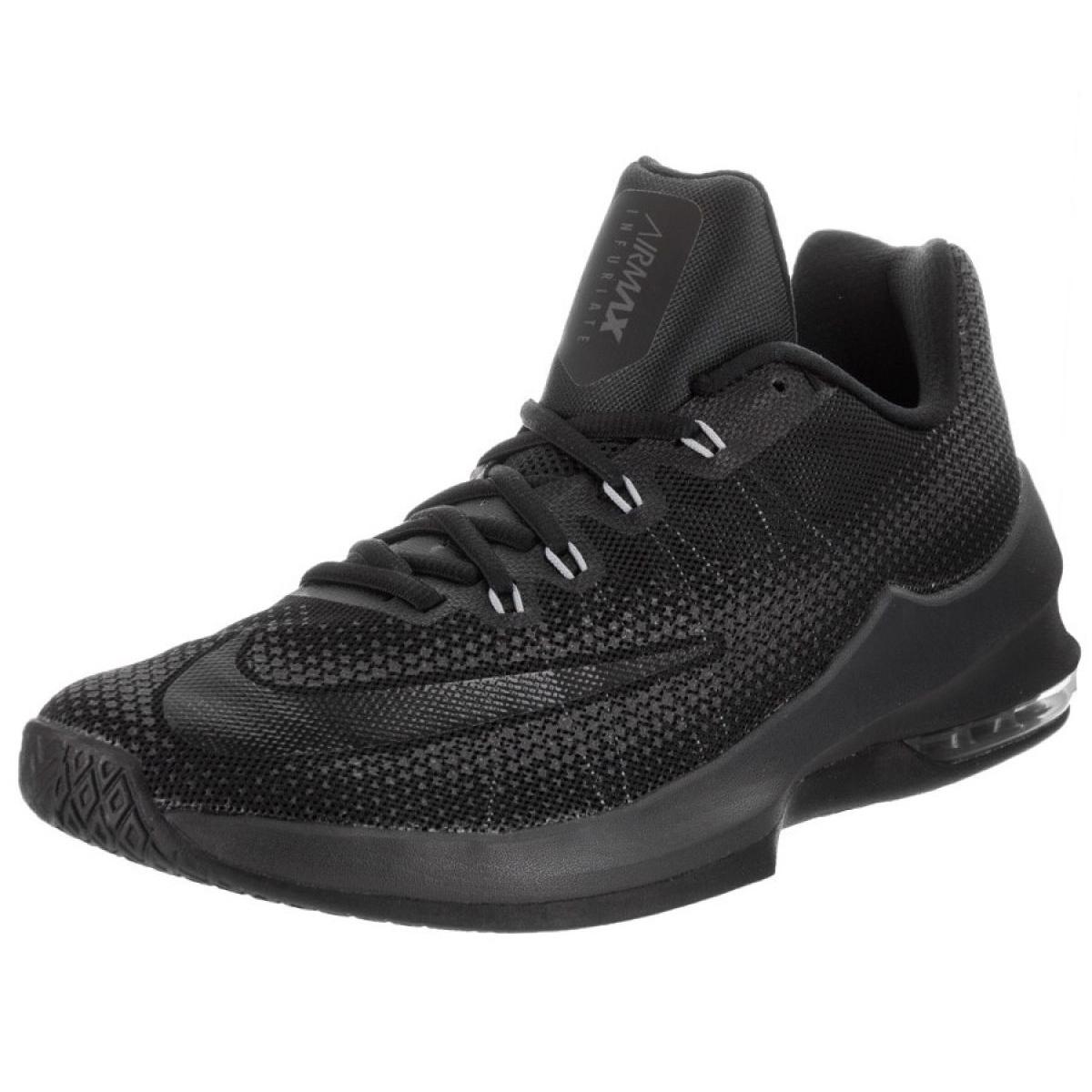 Tênis de basquete Nike Air Max Infuriate Baixa M 852457 001 preto preto