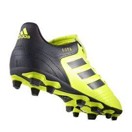 Sapatos de futebol adidas Copa 17.4 FxG M S77162 preto, amarelo preto 1