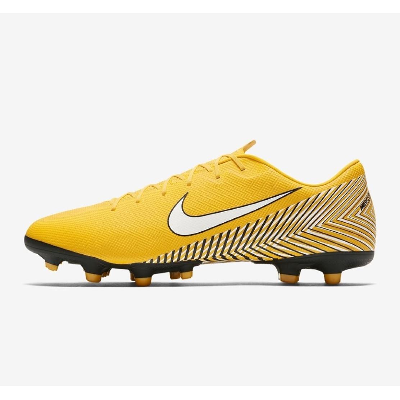 Sapatilhas Nike Mercurial Vapor 12 Academia Futebol Neymar Mg M AO3131 710 amarelo amarelo