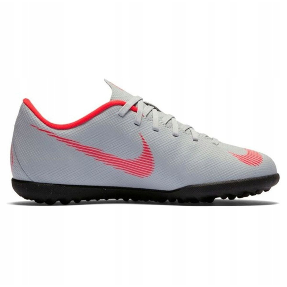 Nike Mercurial VaporX 12 chuteiras de futebol Tf Gs Jr AH7355 060 cinza prata branco