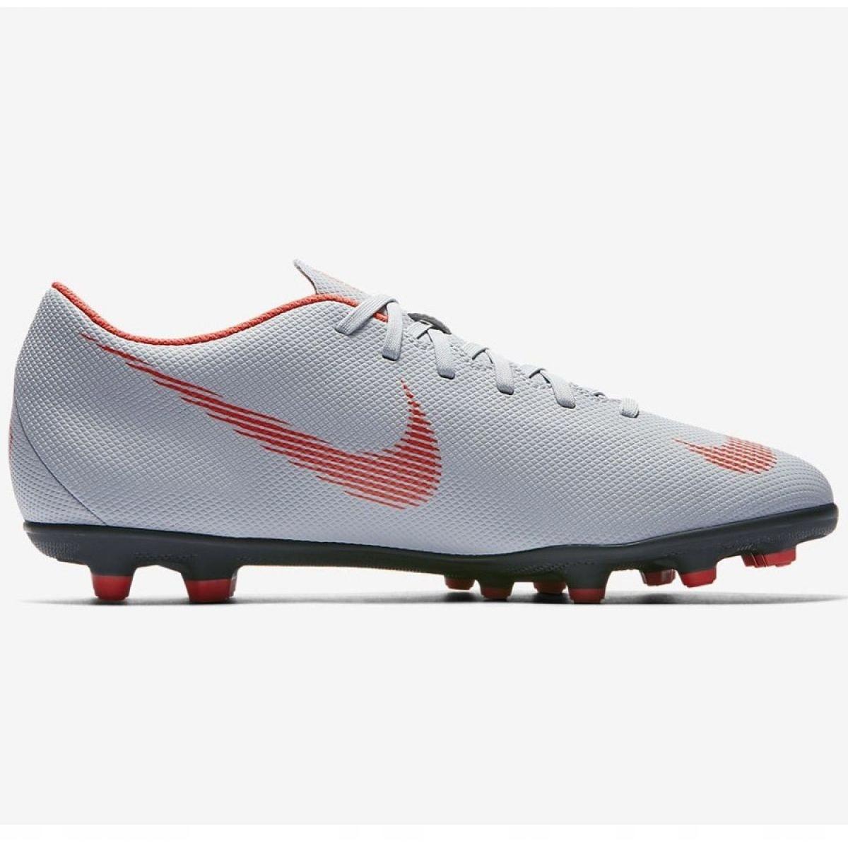 Sapatilhas Nike Mercurial Vapor 12 Club M AH7378 060 cinza prata cinza