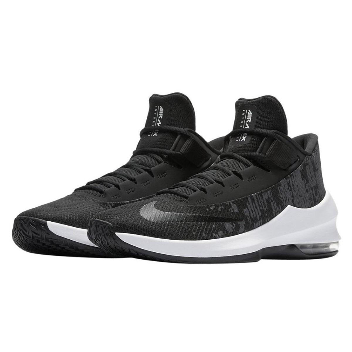 Tênis de basquete Nike Air Max Infuriate 2 Mid M AA7066 001 preto preto