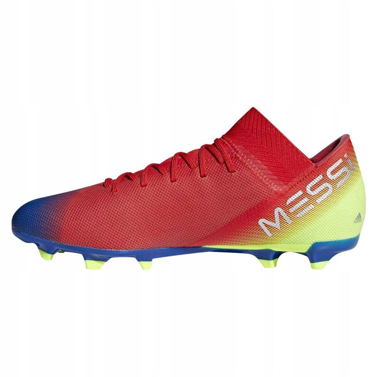 Chuteira Campo Adidas Nemeziz Messi 18 3 FG Vermelho e