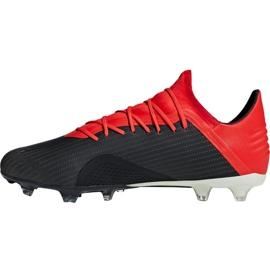 Sapatos de futebol adidas X 18.2 Fg M BB9362 preto preto 2