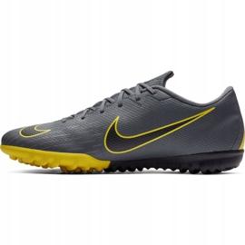 Chuteira Nike Mercurial Vapor 12 Elite TF VermelhoCinzaPretoBranco