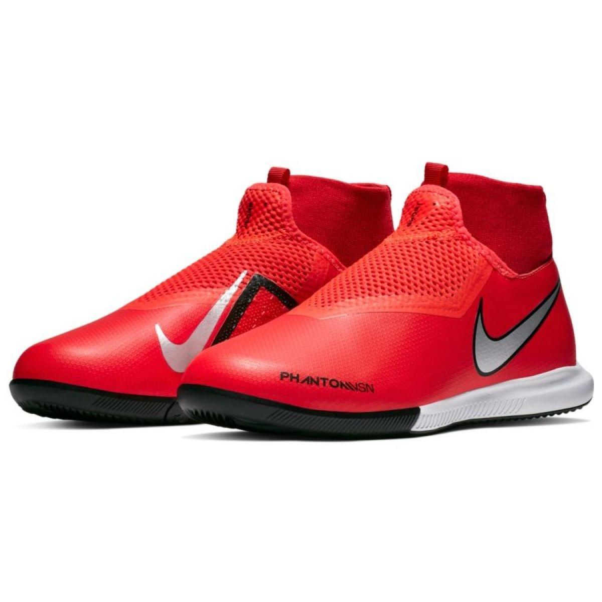 Sapatos de interior Nike Phantom Vsn Academia Df Ic Jr AO3290 600 vermelho vermelho