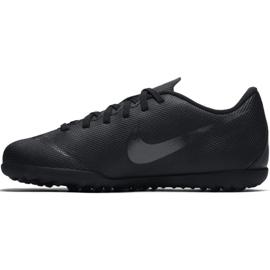 Tênis Nike Mercurial Vapor X 12 Clube Tf Jr AH7355-001 Futebol preto azul marinho, preto 1