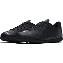 Tênis Nike Mercurial Vapor X 12 Clube Tf Jr AH7355-001 Futebol preto azul marinho, preto 6