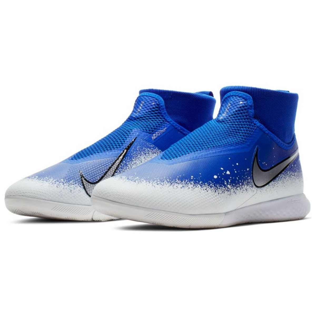 Sapatos de interior Nike Reagir Phantom Vsn Pro Df Ic M AO3276 410 azul branco, azul