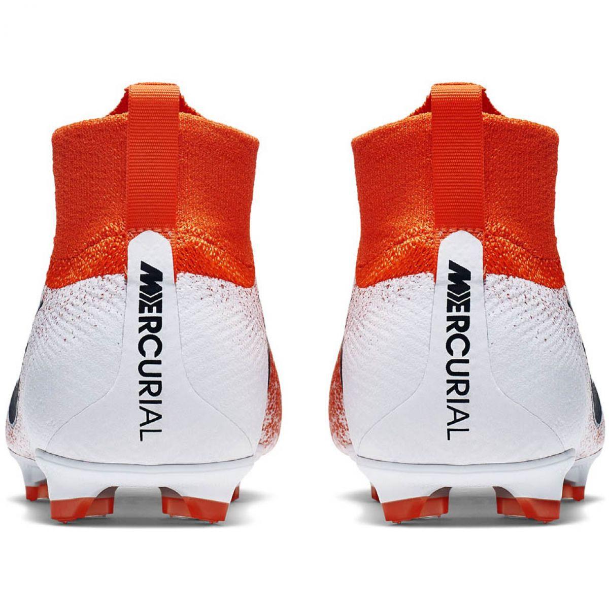 Chuteira Nike Mercurial Superfly 6 FG Elite BrancoLaranja