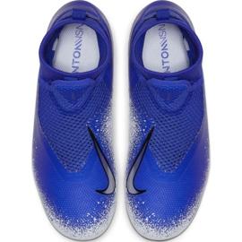 Sapatos de futebol Nike Phantom Vsn Academia Df FG / MG Jr AO3287-410 multicolorido azul 2