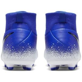 Sapatos de futebol Nike Phantom Vsn Academia Df FG / MG Jr AO3287-410 multicolorido azul 4