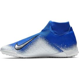 Sapatos de futebol Nike Phantom Vsn Academia Df Tf M AO3269-410 branco, azul azul 2