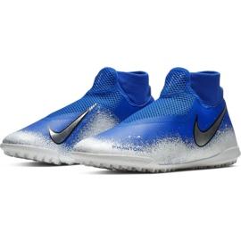 Sapatos de futebol Nike Phantom Vsn Academia Df Tf M AO3269-410 branco, azul azul 4