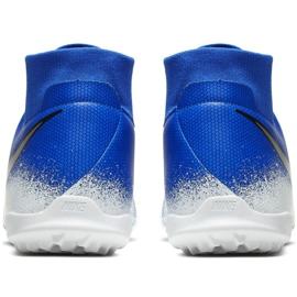 Sapatos de futebol Nike Phantom Vsn Academia Df Tf M AO3269-410 branco, azul azul 6