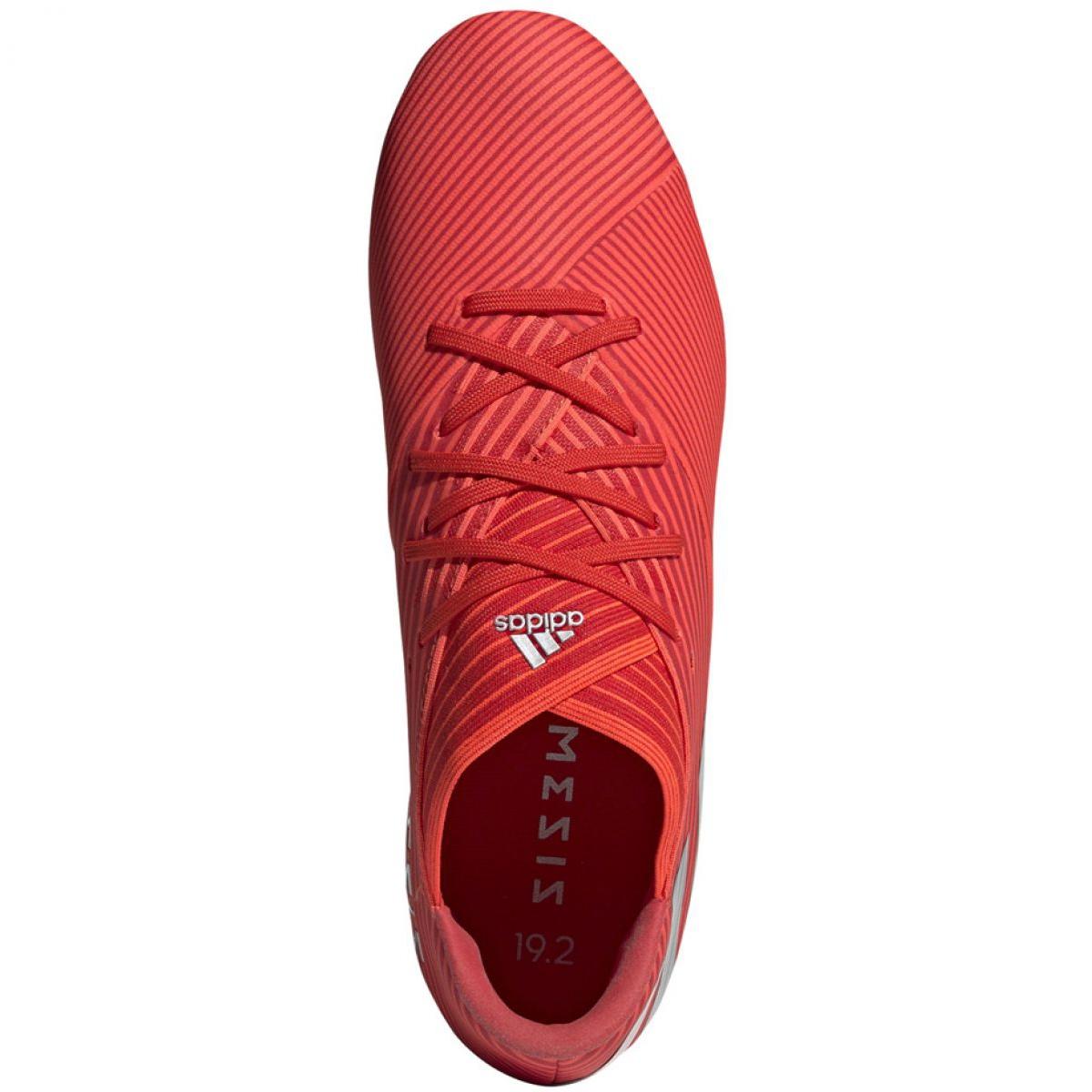 Chuteiras de futebol adidas Nemeziz 19.2 Fg M F34385 vermelho vermelho