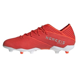 Chuteiras de futebol adidas Nemeziz 19.1 Fg Jr F99955 vermelho vermelho 1