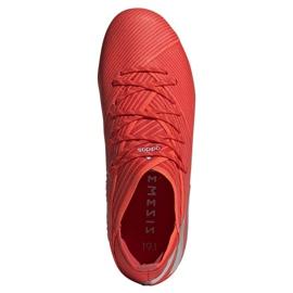 Chuteiras de futebol adidas Nemeziz 19.1 Fg Jr F99955 vermelho vermelho 2