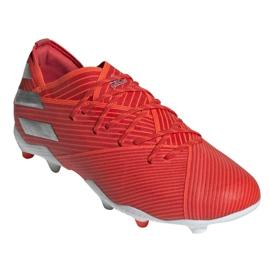 Chuteiras de futebol adidas Nemeziz 19.1 Fg Jr F99955 vermelho vermelho 3