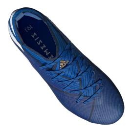 Chuteiras de futebol adidas Nemeziz 19.1 Fg Jr CF99957 azul azul 4