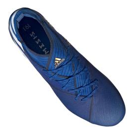 Chuteiras de futebol adidas Nemeziz 19.1 Fg M F34410 azul azul 2