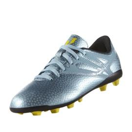 Sapatos de futebol adidas Messi 15.4 FxG Jr B26956 azul azul 4