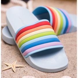 Sweet Shoes Chinelos de borracha coloridos azul multicolorido 1